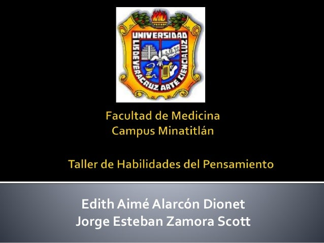 Edith Aimé Alarcón Dionet Jorge Esteban Zamora Scott