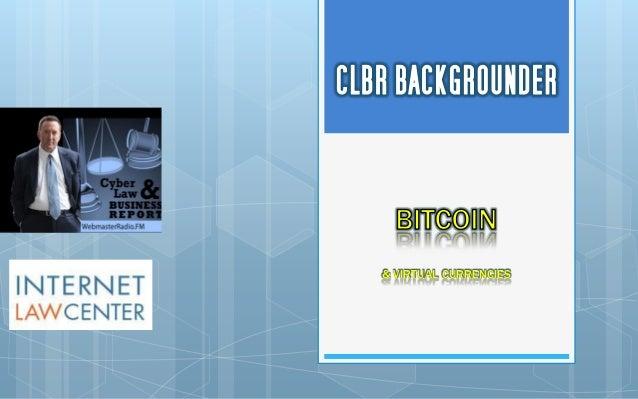 Bitcoin Backgrounder