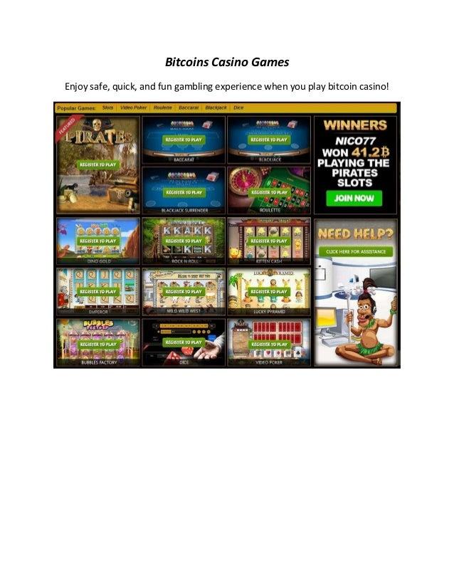 Bitcoins Casino Games Enjoy safe, quick, and fun gambling experience when you play bitcoin casino!
