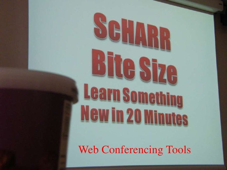ScHARR Bite site for research #26 web conferencing tools