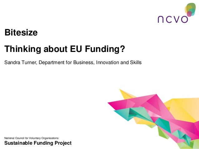 BitesizeThinking about EU Funding?Sandra Turner, Department for Business, Innovation and SkillsNational Council for Volunt...