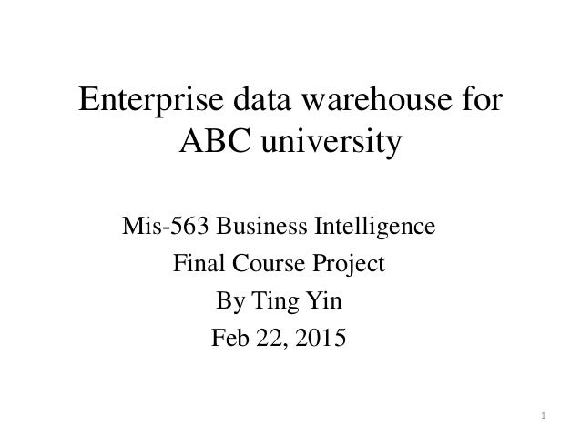 is563 course project enterprise data warehouse for abc university Risk assessment check list information security policy 1 information security policy document does an information security policy exist, which is approved by the.
