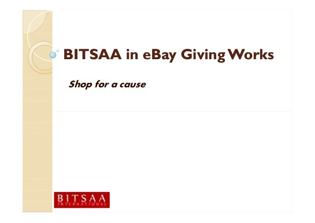 Bitsaa in eBay Giving Works