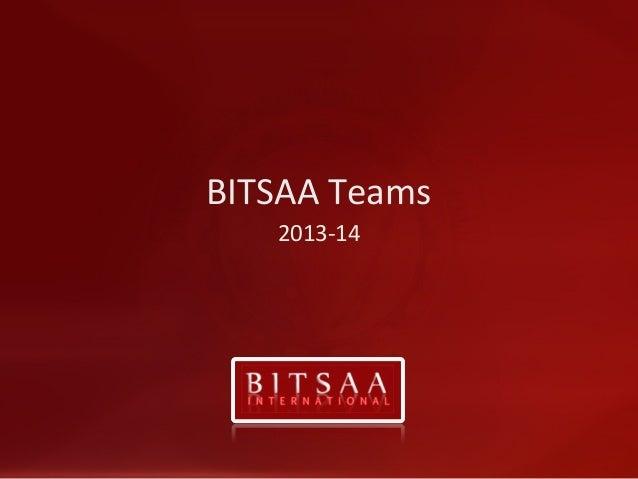 BITSAA Teams 2013-14