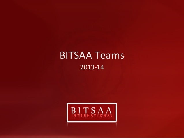 BITSAA Intl Select Teams Info