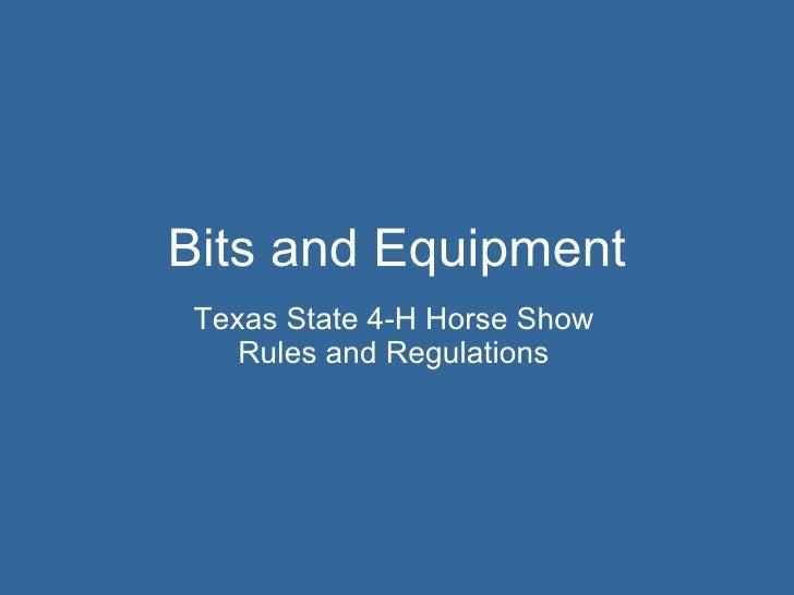Bits and equipment
