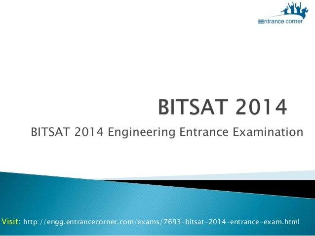 BITSAT 2014