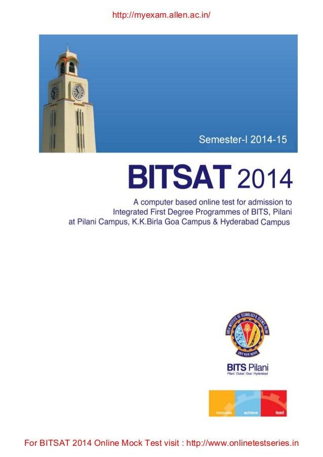 Bitsat 2014 brochure