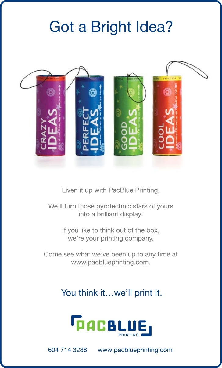 Liven Up Your Ideas with PacBlue Printing