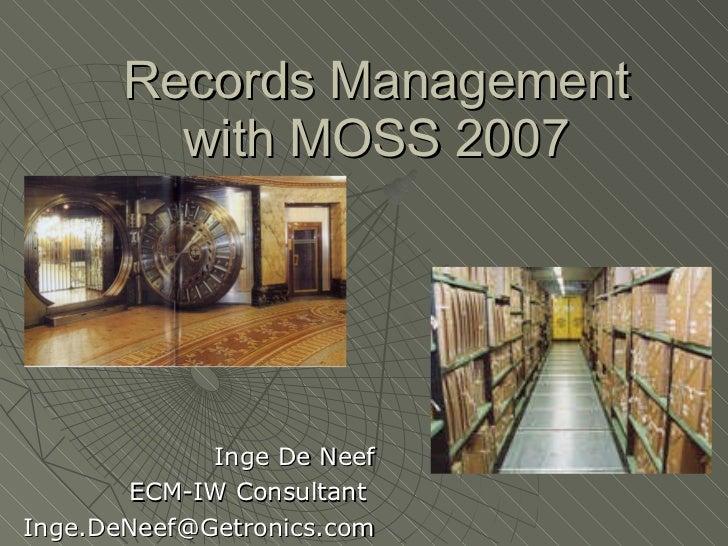 BIWUG 26/04/2007 records management