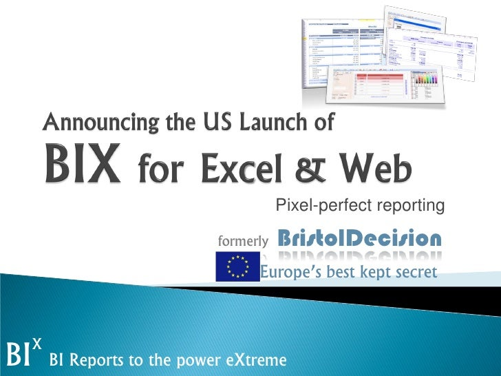 BIX Software Announcement @ Bay Area MS BI User Group-May-3-2012