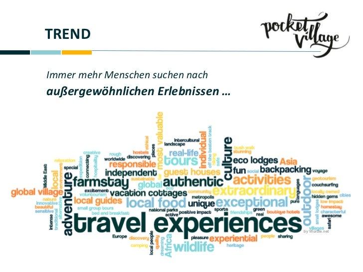 TREND Immer mehr Menschen suchen nach außergewöhnlichen Erlebnissen … by Wordle.net