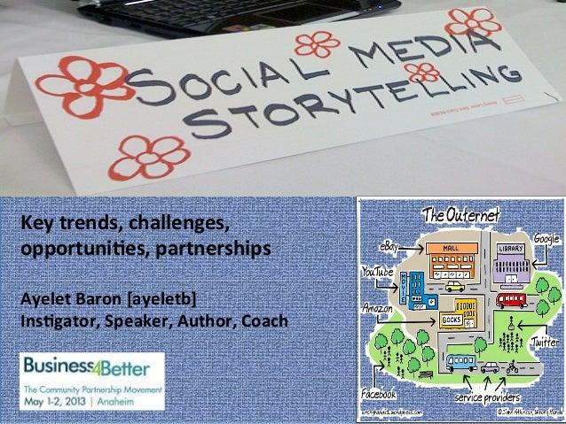 "h""p://infospce.ischool.syr.edu/author/chelseadebaise/ Key trends, challenges, opportuni4es, partnerships   ..."