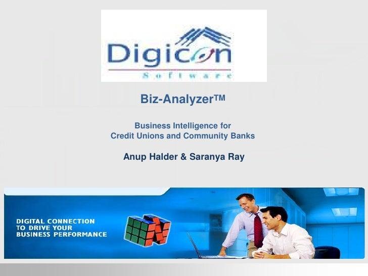 Biz-AnalyzerTM<br />Business Intelligence for<br />Credit Unions and Community Banks<br />Anup Halder & Saranya Ray <br />