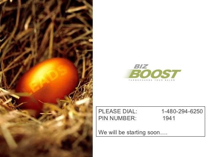BizBoost Webinar - 03/31/11