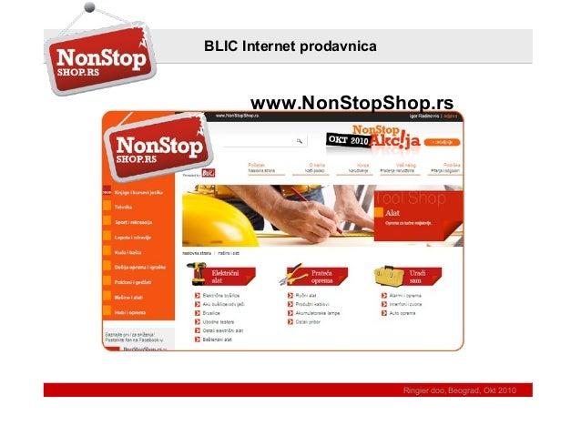 Ringier doo, Beograd, Okt 2010 BLIC Internet prodavnica www.NonStopShop.rs