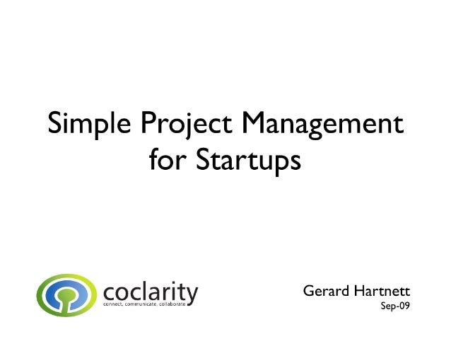 Simple Project Management for Startups