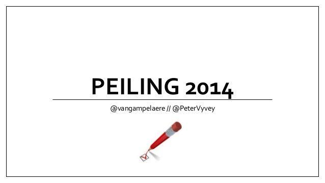 PEILING 2014 @vangampelaere // @PeterVyvey