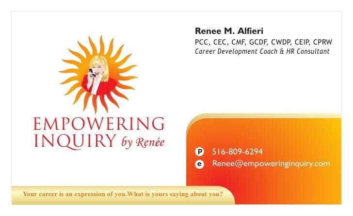 Renee M. Alfieri                                                          PCC, CEC, CMF, GCDF, CWDP, CEIP, CPRW           ...