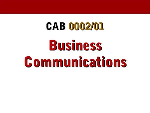 Business Communications week 3 Presentation