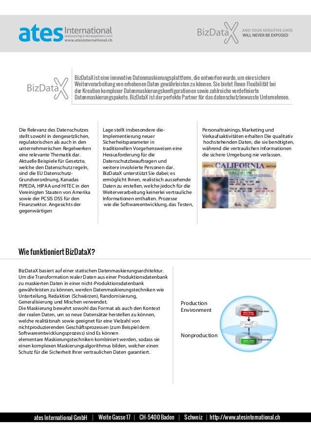 ates International GmbH Weite Gasse 17 CH-5400 Baden Schweiz http://www.atesinternational.ch BizDataX ist eine innovative ...