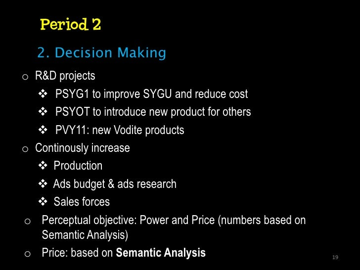 understanding the sonite and vodite products analysis Agenda overview  course overview marketing strategy overview first principles of marketing strategy mp#1: all customers differ managing customer heterogeneity.