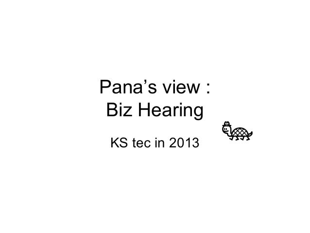 Pana's view : Biz hearing session 1 / monitoring the change