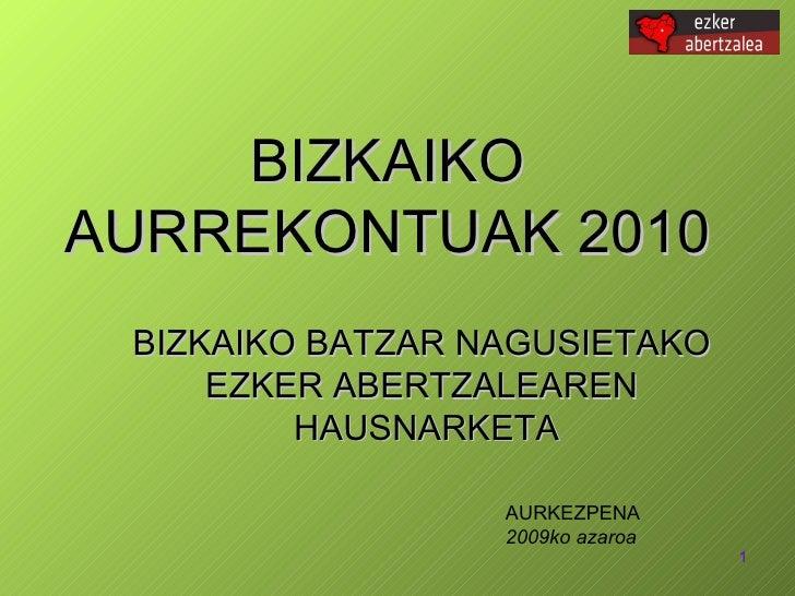 Bizkaiko Aurrekontuak 2010