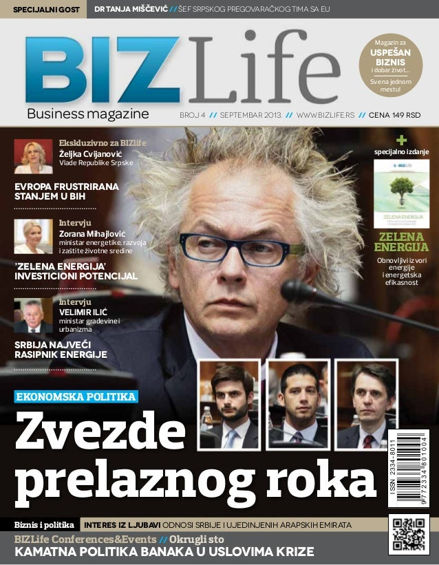 specijalni gost  dr Tanja Miščević // šef srpskog pregovaračkog tima sa EU  Magazin za  uspešan biznis i dobar život...  S...