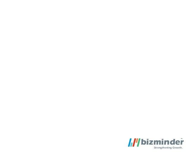 Bizminder Corporate Profile 2013