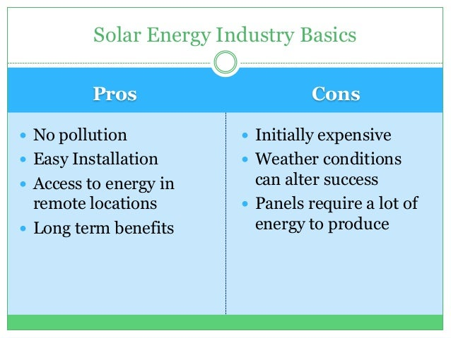 Of Solar Energy Related Keywords & Suggestions - Pros Of Solar Energy ...