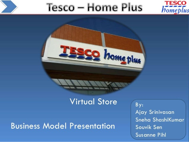 Biz model for tesco's online groceries