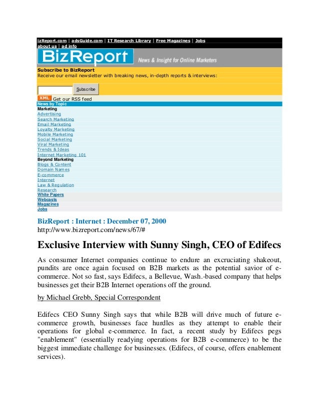 izReport.com | adsGuide.com | IT Research Library | Free Magazines | Jobsabout us | ad infoSubscribe to BizReportReceive o...