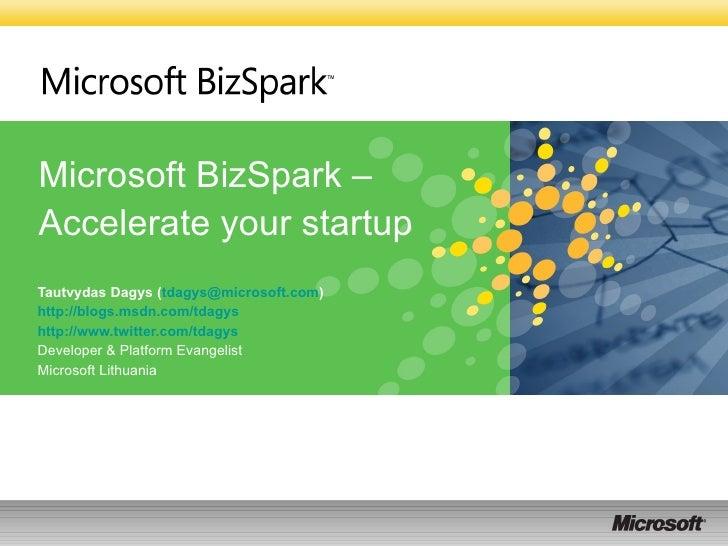 Biz spark@startupjam