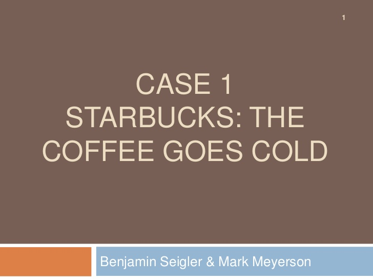 case study on starbucks managing high growth brand