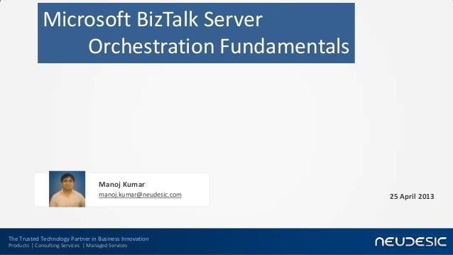 BizTalk Orchestration Fundamentals