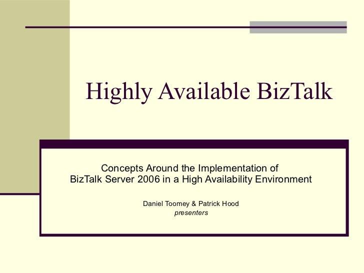 Highly Available BizTalk