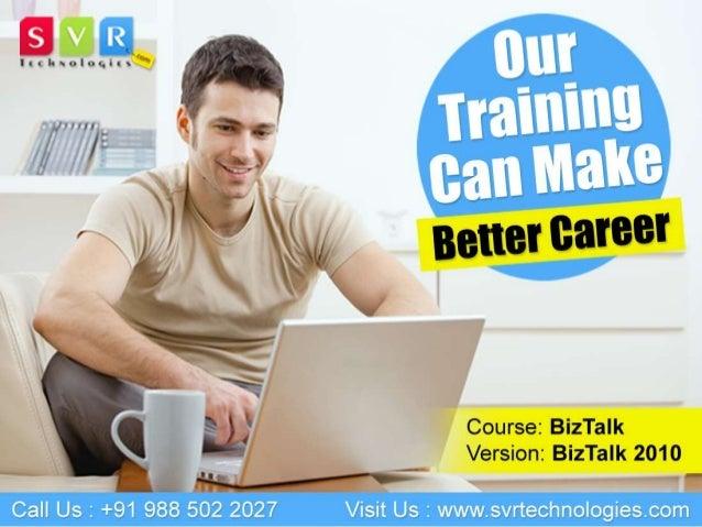Biztalk 2010 Online Training Course Topics