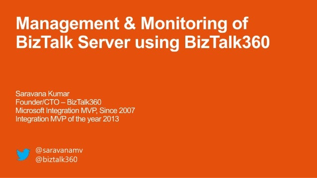 Sweden BizTalk User Group presentation - Monitoring and Management using BizTalk360