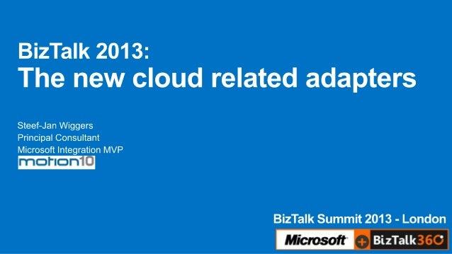 Biz talk summit 2013 - The new cloud related adapters