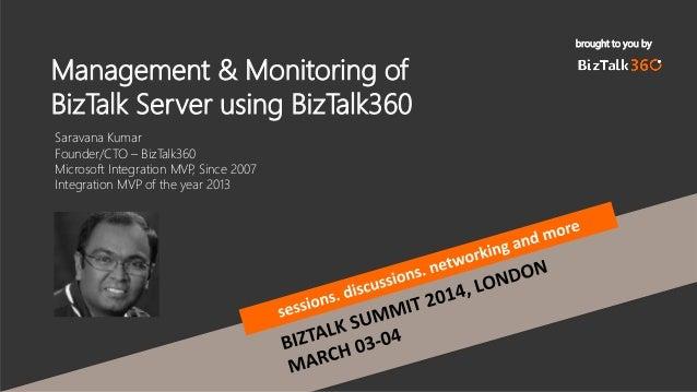 BizTalk Server Administration,Operations and Monitoring using BizTalk360