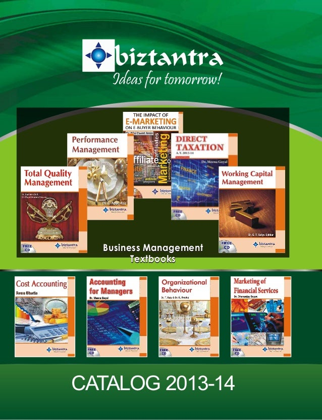 Ideas for tomorrow!  Business Management Textbooks  CATALOG 2013-14