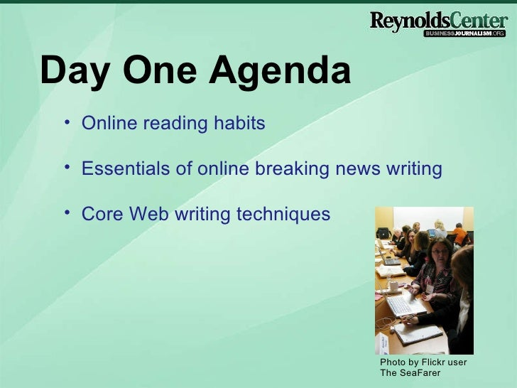 Writing Business News for the Web - Day One