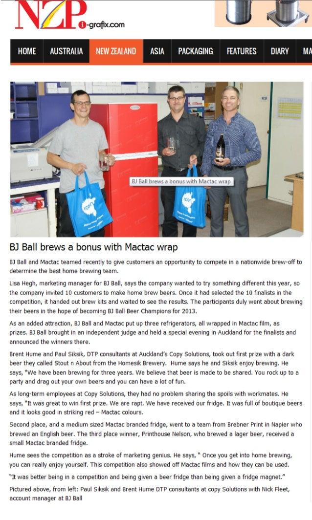 Bj ball brews a bonus with MACtac wrap