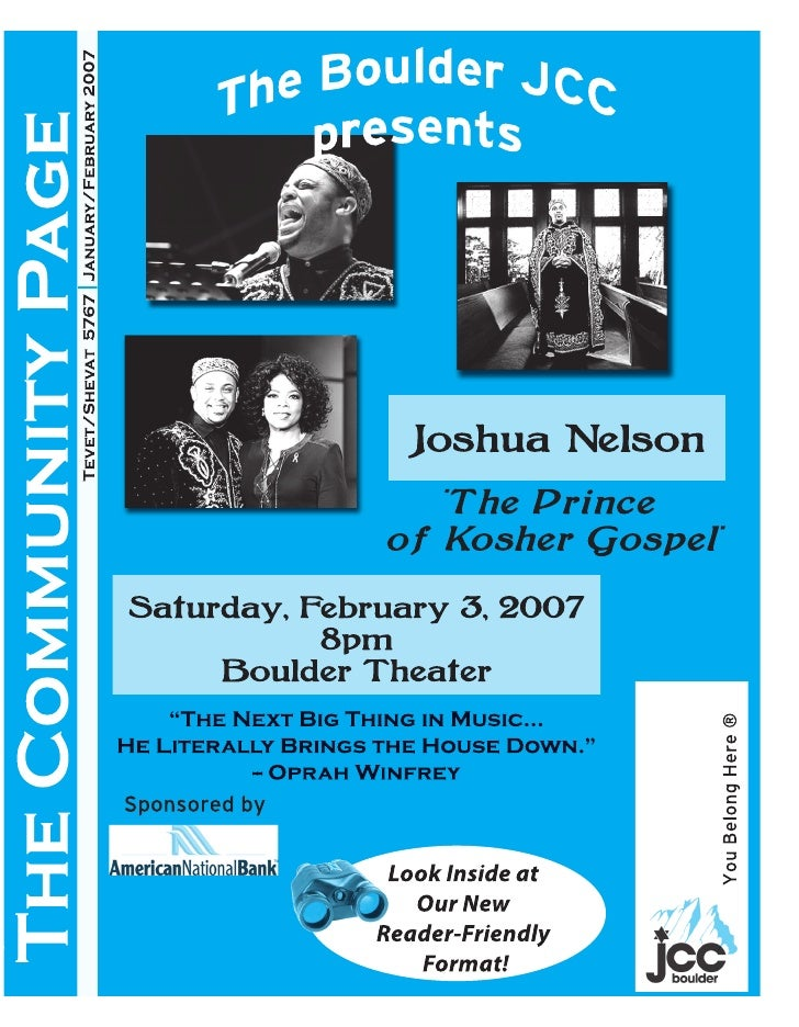 Tevet/Shevat 5767 January/February 2007 The Community Page                                                                ...