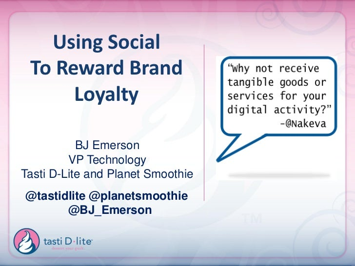 Tasti D-Lite - BDI 3/22/12 The Social Consumer 2012: Case Studies and Roundtables