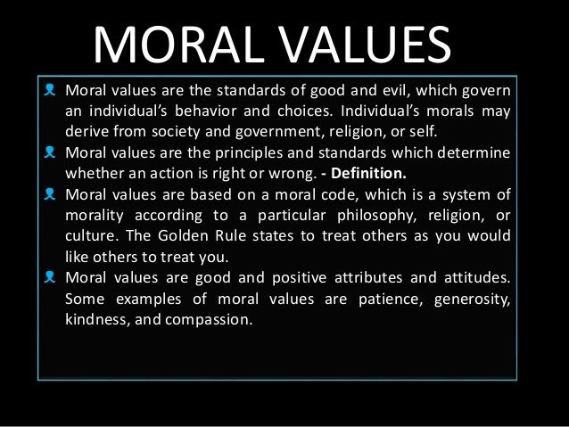 the importance of moral values to society The family is the divine building block of society find out what the purpose of family is and why family values are a cornerstone in the mormon faith.