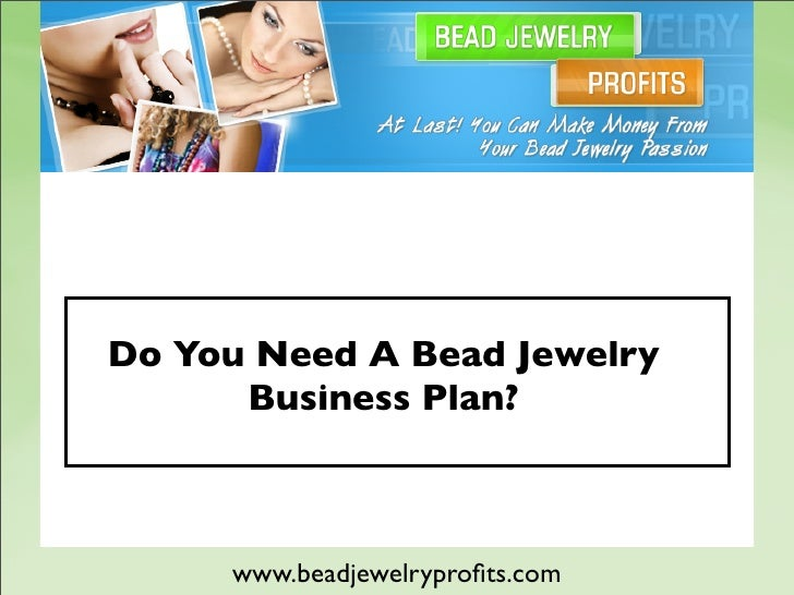 Custom jewelry business plan