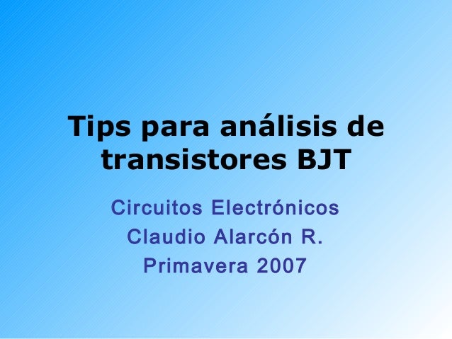 Bjt tips