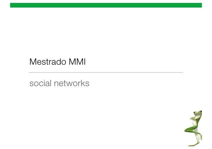 Mestrado MMIsocial networks
